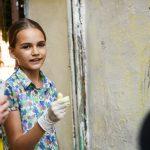 Як у центрі Чернівців розфарбовували дитячий майданчик. Фото