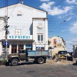 У центрі Чернівців замінюють газові мережі. Фото